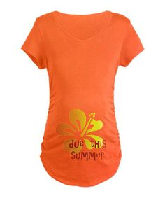 Take a look at this Orange Due This Summer Maternity Tee - Women by CafePress on #zulily today! $21.99, regualr 35.00