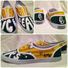 Custom made #Baylor shoes!!