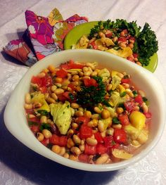 My Triple Bean Salad, a Virtual Vegan Potluck winner!