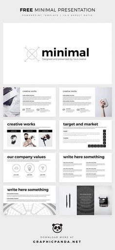 Free Minimal Powerpoint Template - Create your PPT easy! Powerpoint Design Free, Create Powerpoint Template, Free Keynote Template, Free Powerpoint Presentations, Professional Powerpoint Templates, Powerpoint Themes, Powerpoint Presentation Templates, Creative Powerpoint, Powerpoint Examples