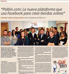 """Palbin.com aparece hoy en """"Soy online"""" de la Razón."""