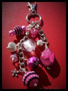Fuscia purse bookbag dangle charm keychain from Dangles By Design $10