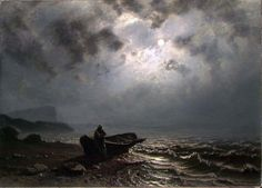 Moonlight on the Norwegian Coast by Knud Andreassen Baade 1876