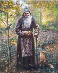 The Old Recluse by Petar Meseldžija Fantasy Wizard, Fantasy Art Men, Fantasy Kunst, Fantasy Rpg, Medieval Fantasy, Character Concept, Character Art, Concept Art, Rpg Pathfinder