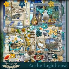 MyMemories Digital Scrapbooking Software and Scrapbook Kits Altered Art, Digital Scrapbooking, My Design, Cool Designs, Diy Crafts, Kit, Homemade, Create, Lighthouse