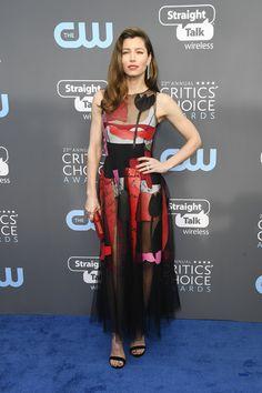 Jessica Biel in Oscar de la Renta - The Most Daring Dresses at the 2018 Critics' Choice Awards - Photos