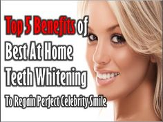 "http://bestathometeethwhitening.net/P... Best At Home Teeth Whitening – Restored Ugly Smile! Top 5 Benefits of Best At Home Teeth Whitening To Regain Perfect Celebrity Smile  Teeth Whitening is fast becoming the most desired of cosmetic dentistry procedures and no longer restricted to being a medical practice. With the huge increase in number of people who claim to be ""qualified"" Cosmetic dentists, it has now become difficult for people to identify and differentiate between a genuinely good…"