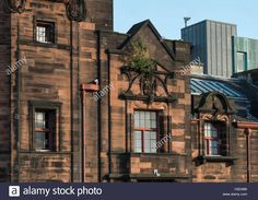 Download this stock image: Window detail,Glasgow Herald Building designed by Charles Rennie Mackintosh, now The Lighthouse, Glasgow,Scotland,UK, - H3D4B6 from Alamy's library of millions of high resolution stock photos, illustrations and vectors.