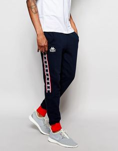 2ac756a555d9e Kappa Skinny Joggers With Poppers at asos.com