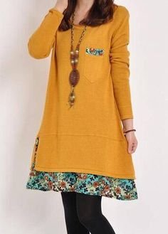 Round Neck Floral Print Long Sleeve Dress on sale only US$24.95 now, buy cheap Round Neck Floral Print Long Sleeve Dress at lulugal.com