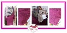 KLEID in beeren-Tönen meliert aus qualitativer Merino-Baumwoll-Mischung, die Liebe zum Detail zeigen die Außenziernähte, die ein beidseitiges Tragen ermöglichen Größe: für 32/34  Maße: Breite 45 cm Länge 90 cm (einfach gemessen) KUNDENBESTELLUNG - kann auch in anderen Farben bestellt werden Simple, Berries, Home Made, Chic, Wool, Threading, Figurine, Handarbeit