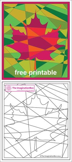The ImaginationBox free printables: explore the russets and golds of Fall/Autumn. - The ImaginationBox free printables: explore the russets and golds of Fall/Autumn with this hidden maple leaf coloring sheet The ImaginationBox free pr.