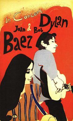Joan Baez & Bob Dylan 1965 Tour Concert Poster — art by Eric Von Schmidt