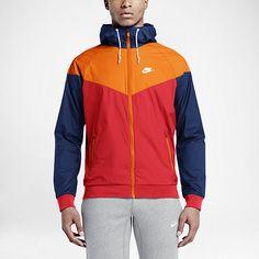 Nike Mens Half Zip Jacket University RedDeep Royal Blue