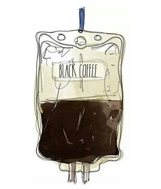 I was literally thinking about a comic of Yaki pouring coffee into his IV drip earlier.