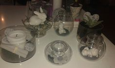 ©clearly creative partylite® , easter theme in grey and white