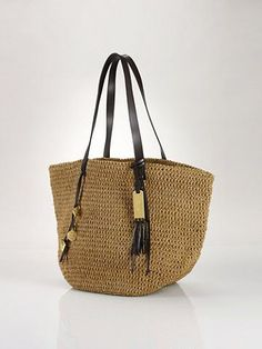 Striped Straw Tote - Lauren Handbags Handbags - RalphLauren.com Discount  Handbags f43e310ae5ebd
