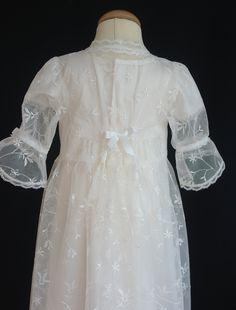 Vår exklusiva spes överklänning, dopklänning, Christening gown