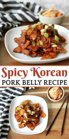 This spicy korean pork belly recipe was fantastic! The pork belly was so rich and the spice level was perfect. It's a really easy Korean recipe for beginners. food This Spicy Korean Pork Belly Will Simply Melt In Your Mouth! Best Chinese Food, Authentic Chinese Recipes, Chinese Chicken Recipes, Chinese Pork, Korean Pork Belly, Spicy Korean Pork, Easy Korean Recipes, Easy Pork Belly Recipes, African Recipes