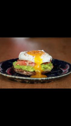 Wheat toast with avocado and egg