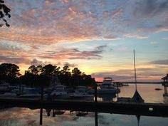 Marina sunset at Hilton Head RV Resort and Marina. One of our favorite stays so far!