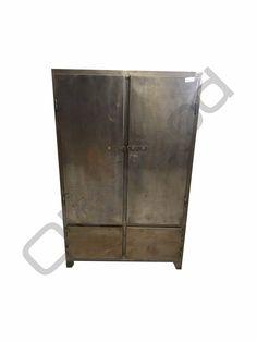 Industrieel meubel Gepolijste metalen kast