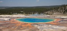 The Grand Prismatic Spring in Yellowstone National Park is a beautiful wonder of the world.