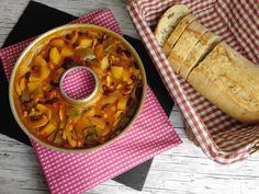 Die Camper-Ofensuppe kann mit und ohne Fleisch hervorragend im Omnia-Backofen zubereitet werden. Alle Zutaten nur in die Omnia-Form verteilen. Lecker!