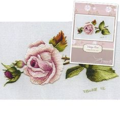 Trish Burr Embroidery Kit  Vintage Rose by InspireEmbroidery, $29.95