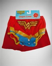 Wonder Woman Caped Diaper Cover