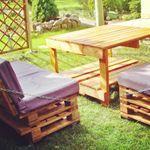 Pallets Garden idea (sofa and table)   1001 Pallets
