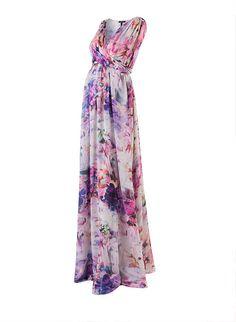 Tilda Print Maternity Maxi Dress | Maternity Dresses | Isabella Oliver Maternity, $465