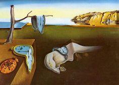 Tableaux sur toile, reproduction de Dali, The Persistence Of Memory, 24x33cm