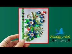 Paper Quilling | How to make Beautiful Quilled Wedding Card with heart - YouTube