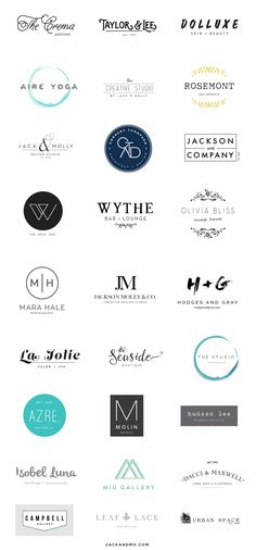 Clean. Simple. Modern. Branding. These logos are designed to be easily customizable to fit your company name quickly— with the same impeccable quality of a design built from scratch. Beautiful couture results!