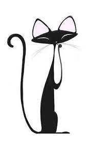 Image result for clipart cat black and white