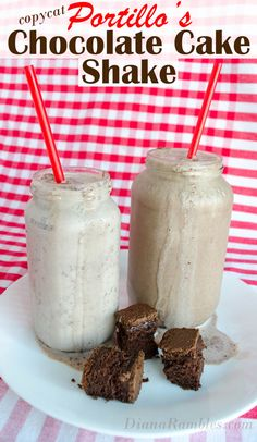 Do you love Portillo's but don't have one nearby? Create this Portillo's Chocolate Cake Shake at home with this easy copycat recipe.