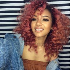 Quality virgin human hair & extensions trusted & recommended by stylists, and backed by the only return policy in the industry. Try Mayvenn hair today! Cabelo Rose Gold, Rose Gold Hair, Hair Colorful, Curly Hair Styles, Natural Hair Styles, Look Girl, School Looks, Hair Laid, Big Chop