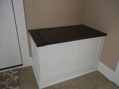 Hammers and High Heels: Project Feature: Holly & Brian's DIY Entry Storage Bench & Message Board