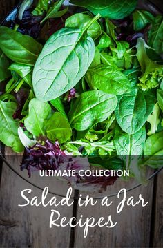 """30 Mason Jar Recipes: A Month Worth of """"Salad in a Jar"""" Recipes *Awesome list of lunch ideas"""