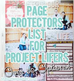 Page Protectors List for Project Lifers