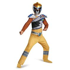 disguise  gold  Ranger  dino  charge  classic  costume  medium  7  8