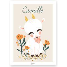Affiche personnalisable Les Animignons La Chèvre (3 tailles) - Kanzilue