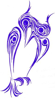 Tribal Owl Tattoo design