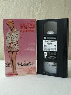 The Pajama Game Starring Doris Day & John Raitt VHS Tape Movie Musical 1957 1990 Warner Brothers Pictures 35085 Not Rated by NostalgiaRocks