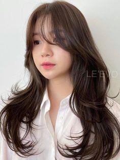 Bangs With Medium Hair, Medium Hair Cuts, Long Hair Cuts, Medium Hair Styles, Long Hair Styles, Korean Haircut Long, Korean Long Hair, Hair Korean Style, Korean Medium Hair