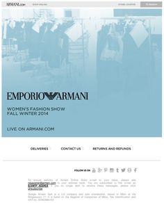Emporio Armani Woman: watch the 2014 Fall Winter fashion show live