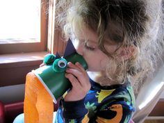Blow in to make your dragon breathe fire!  We are so going to this for story time next week!