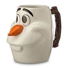 Disney Olaf Dimensional Mug | Disney StoreOlaf Dimensional Mug - Give in to Olaf's love of all things warm with this large capacity sculptured coffee mug featuring the face of our favorite <i>Frozen</i> snowman with 3-D carrot nose and textured branch handle.