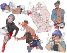 Pokemon Guzma, Pokemon Ships, Pikachu, Pokemon Stuff, Pokemon Red Blue, Fire Emblem, All Art, Anime Guys, My Images